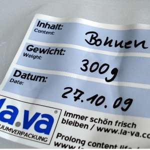 100 Labels for Vacuum Bags